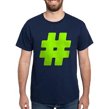 Neon Green #Hashtag Dark T-Shirt
