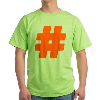 Orange #Hashtag Light T-Shirt