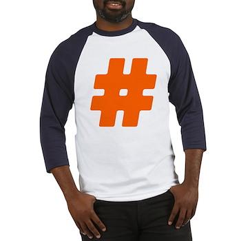 Orange #Hashtag Baseball Jersey