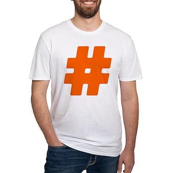 Orange #Hashtag Fitted T-Shirt