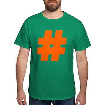 Orange #Hashtag Dark T-Shirt
