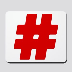 Red #Hashtag Mousepad