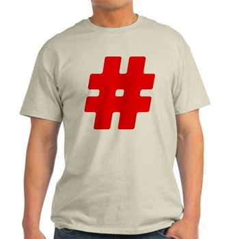 Red #Hashtag Light T-Shirt