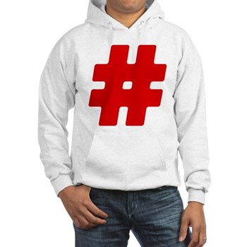 Red #Hashtag Hooded Sweatshirt