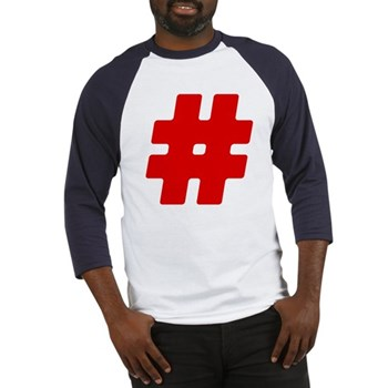 Red #Hashtag Baseball Jersey