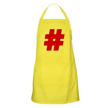 Red #Hashtag Apron