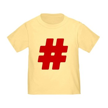 Red #Hashtag Infant/Toddler T-Shirt