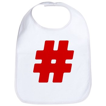 Red #Hashtag Bib