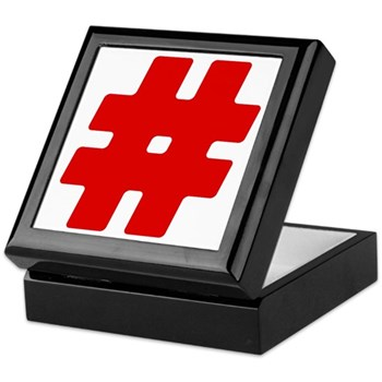 Red #Hashtag Keepsake Box