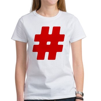 Red #Hashtag Women's T-Shirt