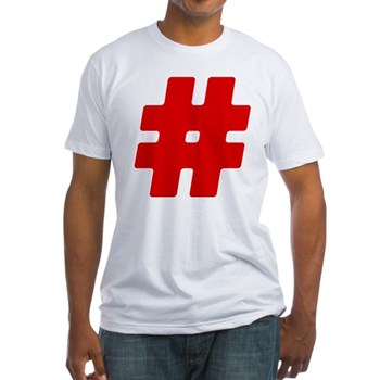 Red #Hashtag Fitted T-Shirt