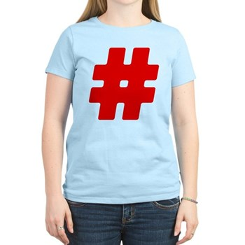 Red #Hashtag Women's Light T-Shirt