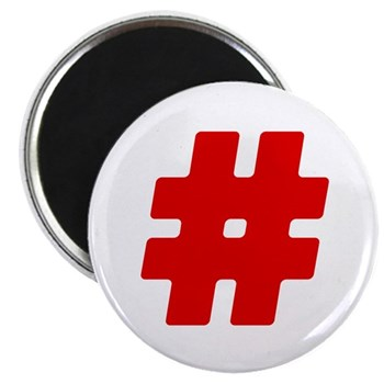 Red #Hashtag Magnet