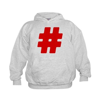 Red #Hashtag Kid's Hoodie