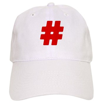 Red #Hashtag Cap