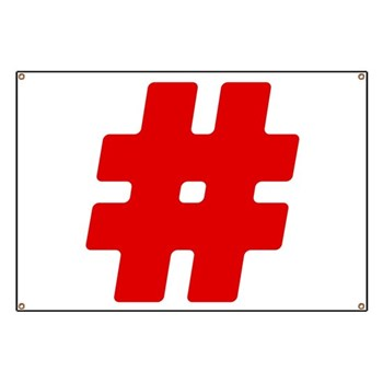 Red #Hashtag Banner