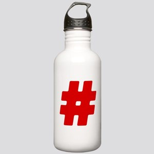 Red #Hashtag Stainless Water Bottle 1.0L