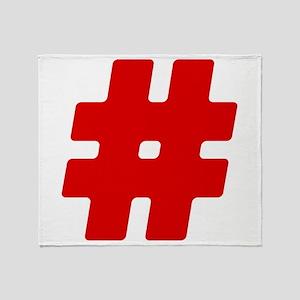 Red #Hashtag Stadium Blanket