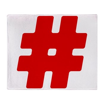 Red #Hashtag Stadium Blanket