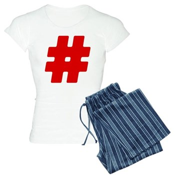 Red #Hashtag Women's Light Pajamas