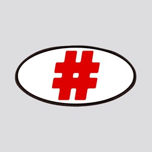 Red #Hashtag Patches