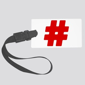 Red #Hashtag Large Luggage Tag