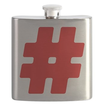Red #Hashtag Flask