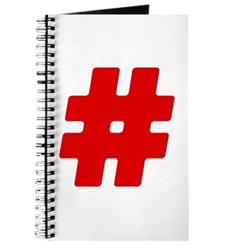 Red #Hashtag Journal
