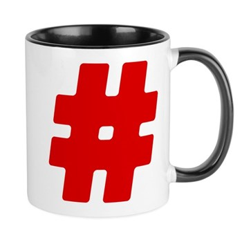 Red #Hashtag Mug