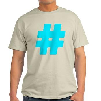 Turquoise #Hashtag Light T-Shirt