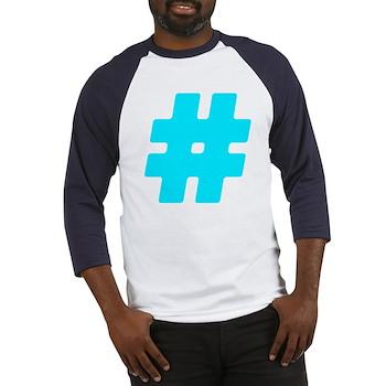 Turquoise #Hashtag Baseball Jersey