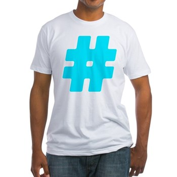 Turquoise #Hashtag Fitted T-Shirt