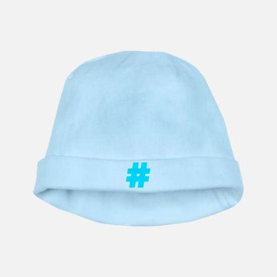 Turquoise #Hashtag Infant Cap