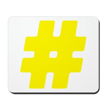 Yellow #Hashtag Mousepad
