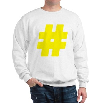 Yellow #Hashtag Sweatshirt