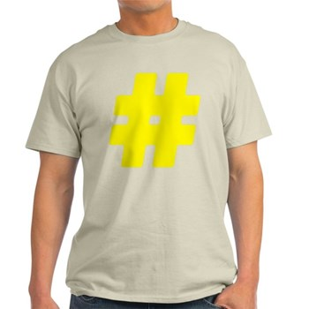 Yellow #Hashtag Light T-Shirt