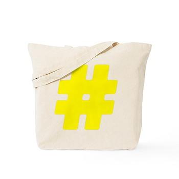 Yellow #Hashtag Tote Bag