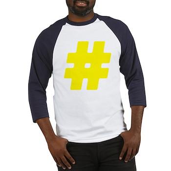 Yellow #Hashtag Baseball Jersey