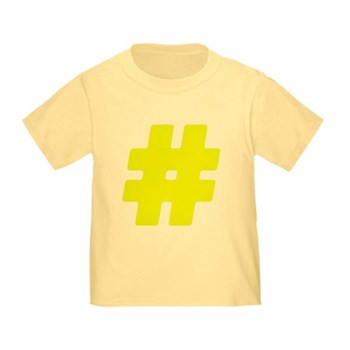 Yellow #Hashtag Infant/Toddler T-Shirt