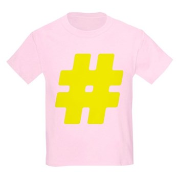 Yellow #Hashtag Kids Light T-Shirt