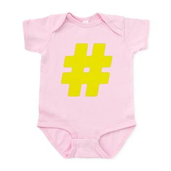 Yellow #Hashtag Infant Bodysuit