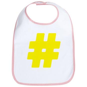 Yellow #Hashtag Bib
