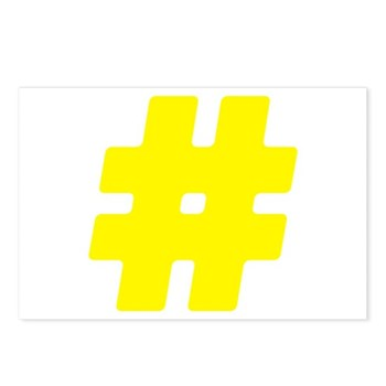 Yellow #Hashtag Postcards (Package of 8)