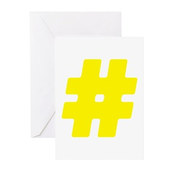 Yellow #Hashtag Greeting Cards (10 pack)