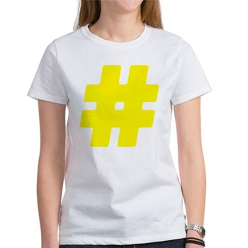 Yellow #Hashtag Women's T-Shirt