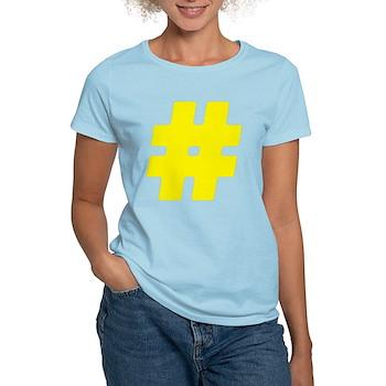 Yellow #Hashtag Women's Light T-Shirt