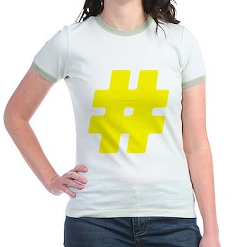 Yellow #Hashtag Jr. Ringer T-Shirt