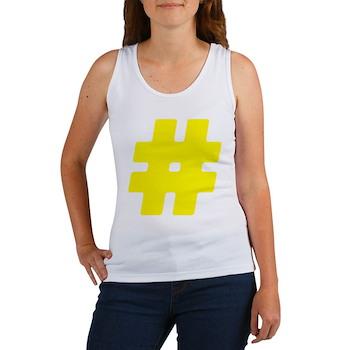 Yellow #Hashtag Women's Tank Top