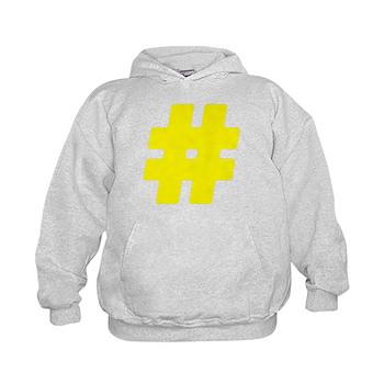 Yellow #Hashtag Kid's Hoodie