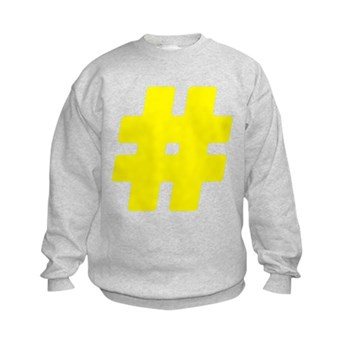 Yellow #Hashtag Kids Sweatshirt